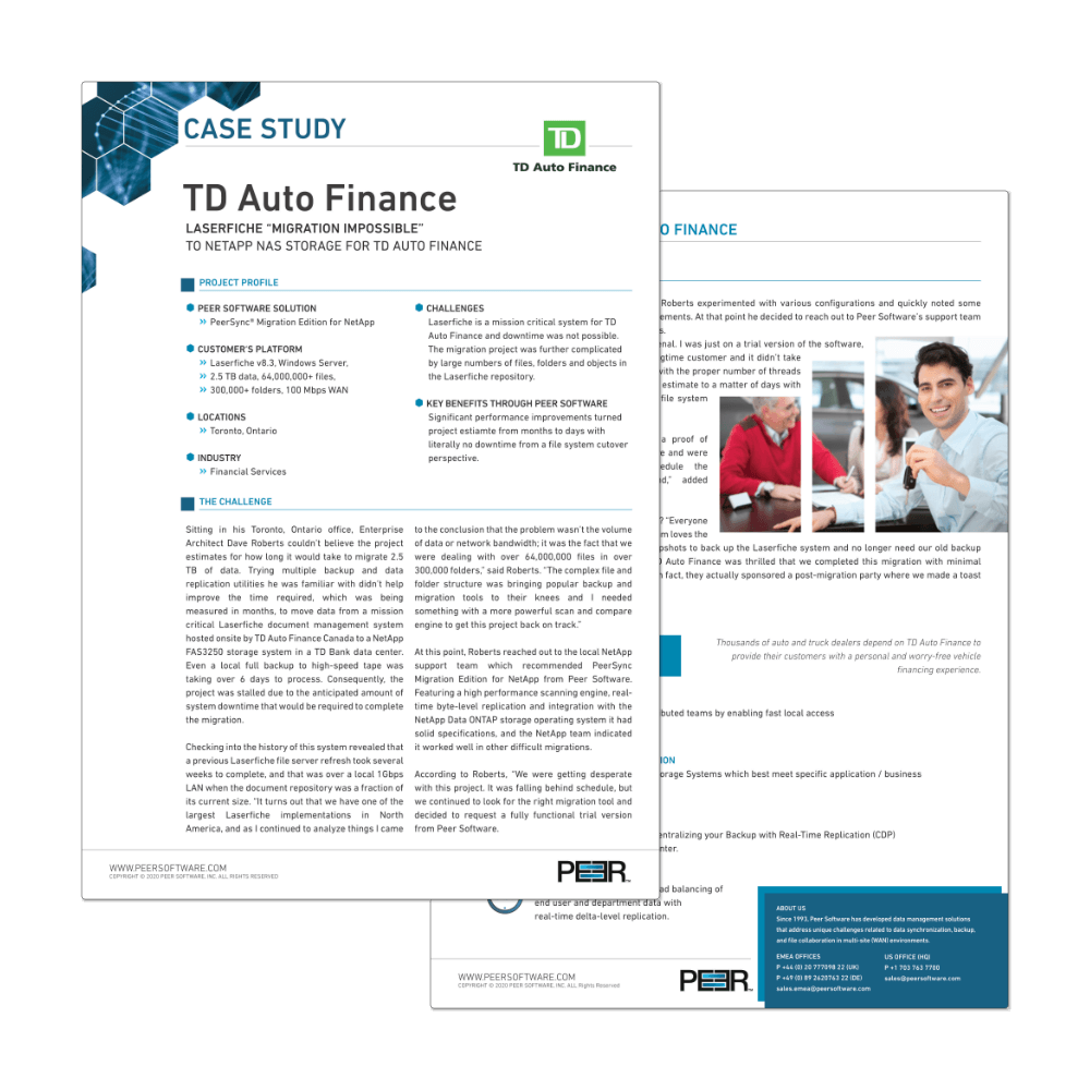 Preview Case Study TD Auto Finance