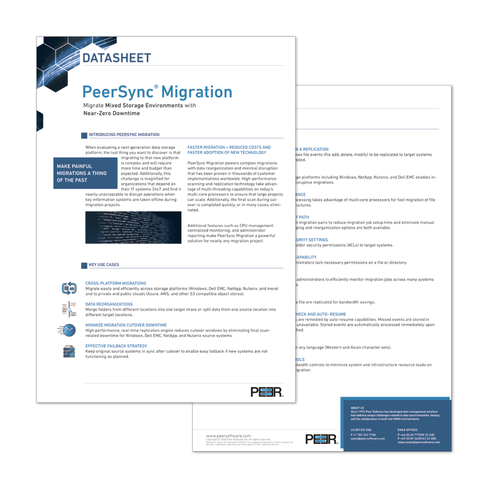 Datasheet PeerSync Migration Preview