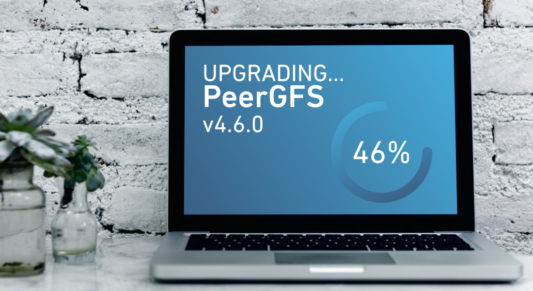 Notebook showing update to PeerGFS 4.6.0