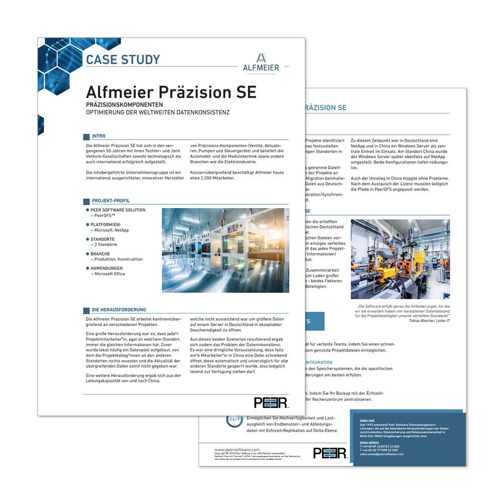 Preview Case Study Alfmeier