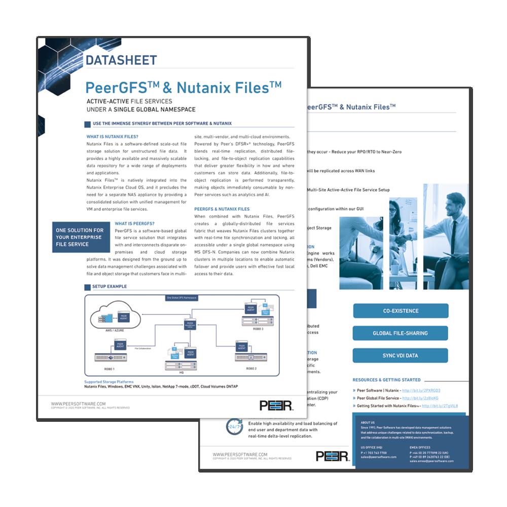 Preview Datasheet PeerGFS Nutanix